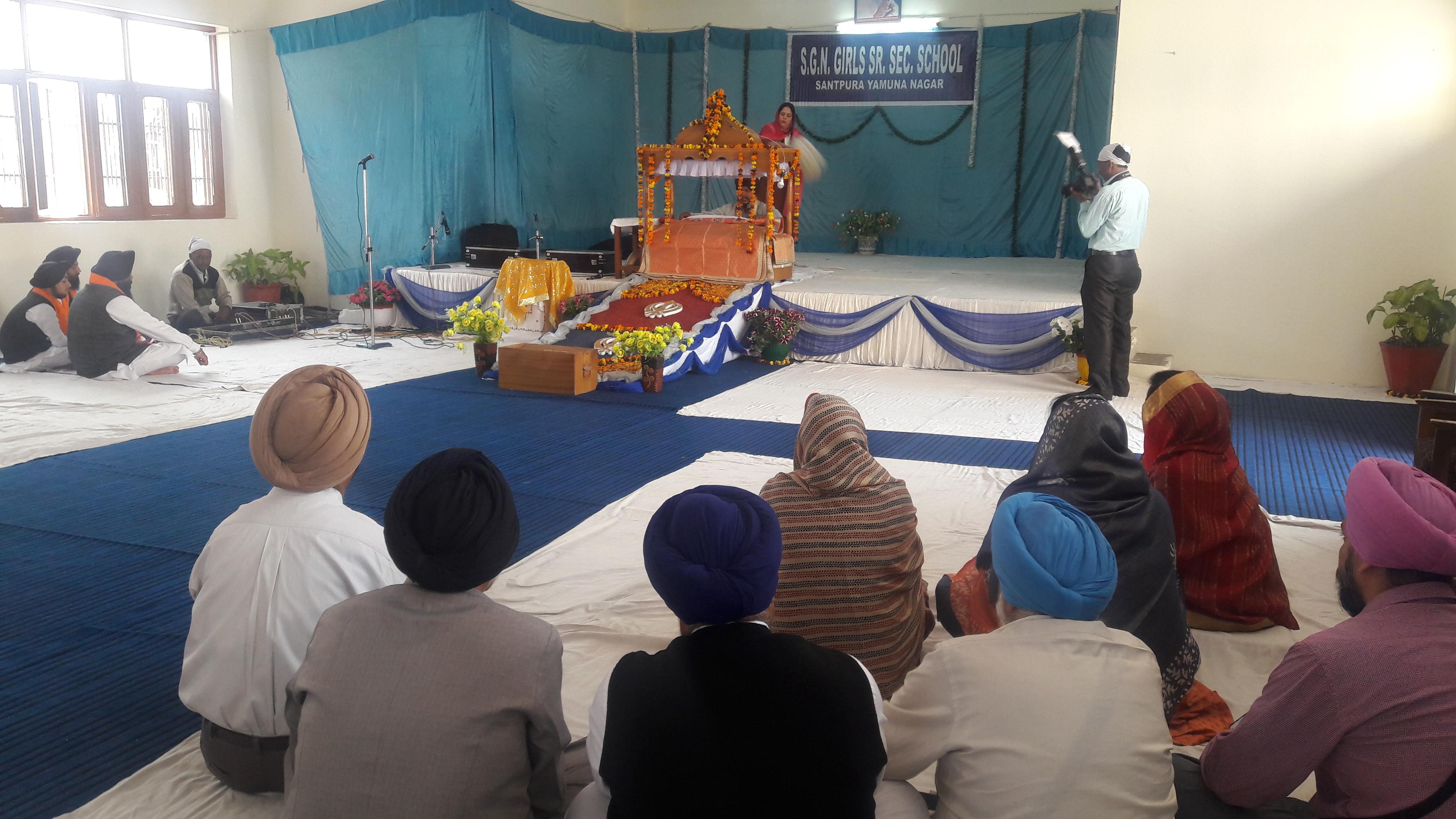 यमुनानगर में बच्चों के बेहतर भविष्य के लिए हुआ अखंड पाठ