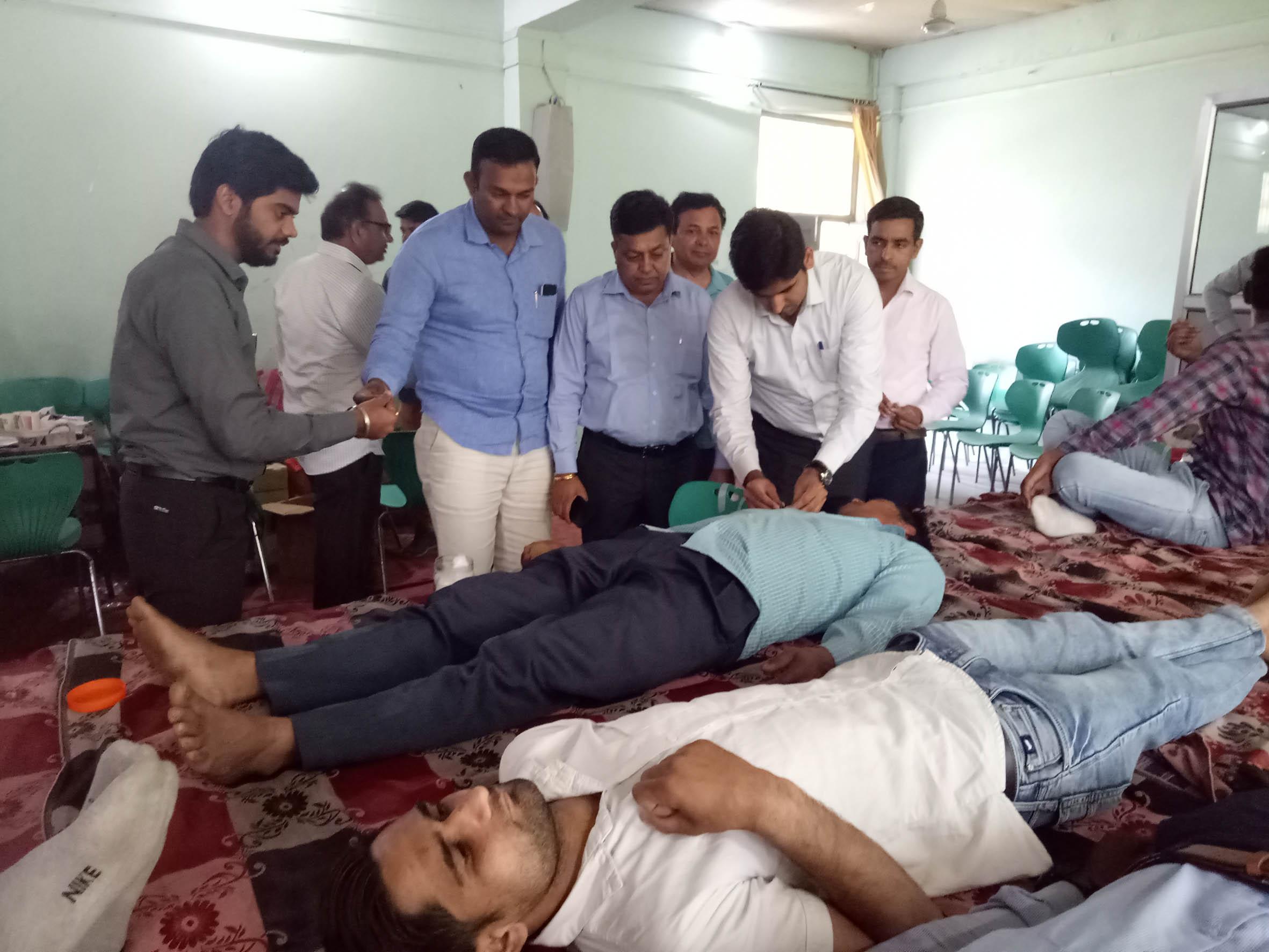 जिला यमुनानगर के साढौरा के डीएवी कालेज में हुआ रक्तदान