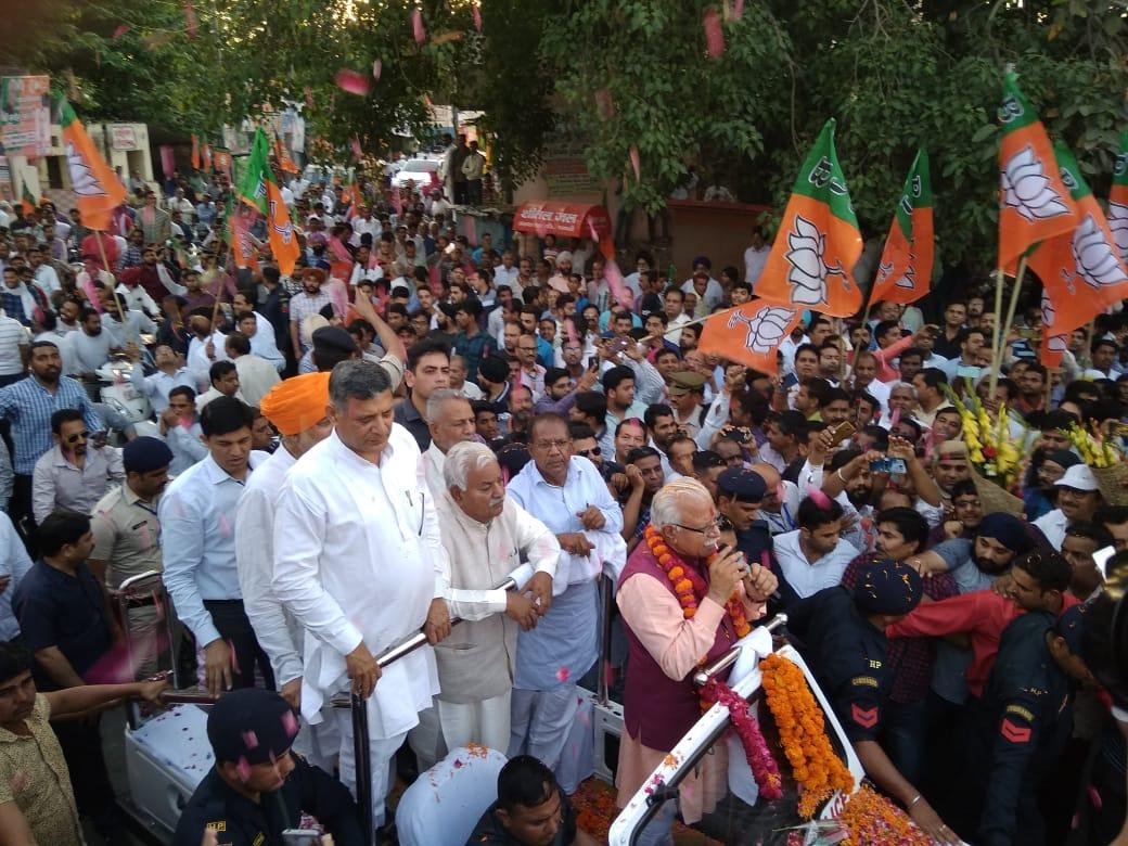 CM Haryana's Road Show in Jagadhri (Yamunanagar) Haryana