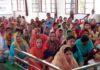 यमुनानगर में रादौर केसंत निरंकारी भवन मेंसत्संग में प्रवचन सुनते उपस्थित श्रद्धालु।