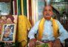 हरियाणा ब्राह़मण परिसंघ की मीटिंग को संबोधित करते संस्थापक पुरुषोत्तम दास शर्मा
