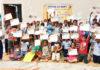 ब्रिज ऑफ होप की ओर से आयोजित प्रतियोगिता में भाग लेते बच्चे।