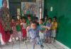 लाईक पब्लिक स्कूल रादौर में आयोजित प्रतियोगिता में भाग लेता बच्चा।