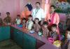महाराजा अग्रसेन सीनियर सैकेडरी स्कूल गुमथलाराव में आयोजित प्रतियोगिता में भाग लेते बच्चे।
