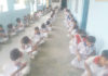 रादौर केजनता पब्लिक स्कूल अलाहर में राईटिंग प्रतियोगिता में भाग लेते विद्यार्थी।