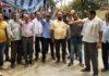 साढौरा में कर्मचारियों के निलंबन के विरोध में धरना-प्रदर्शन हुआ