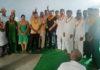 सैनी राष्ट्रीय पंचायत के नवनियुक्त पदाधिकारियों को सम्मानित करते सैनीसमाज के लोग।